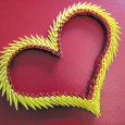 3d origami heart