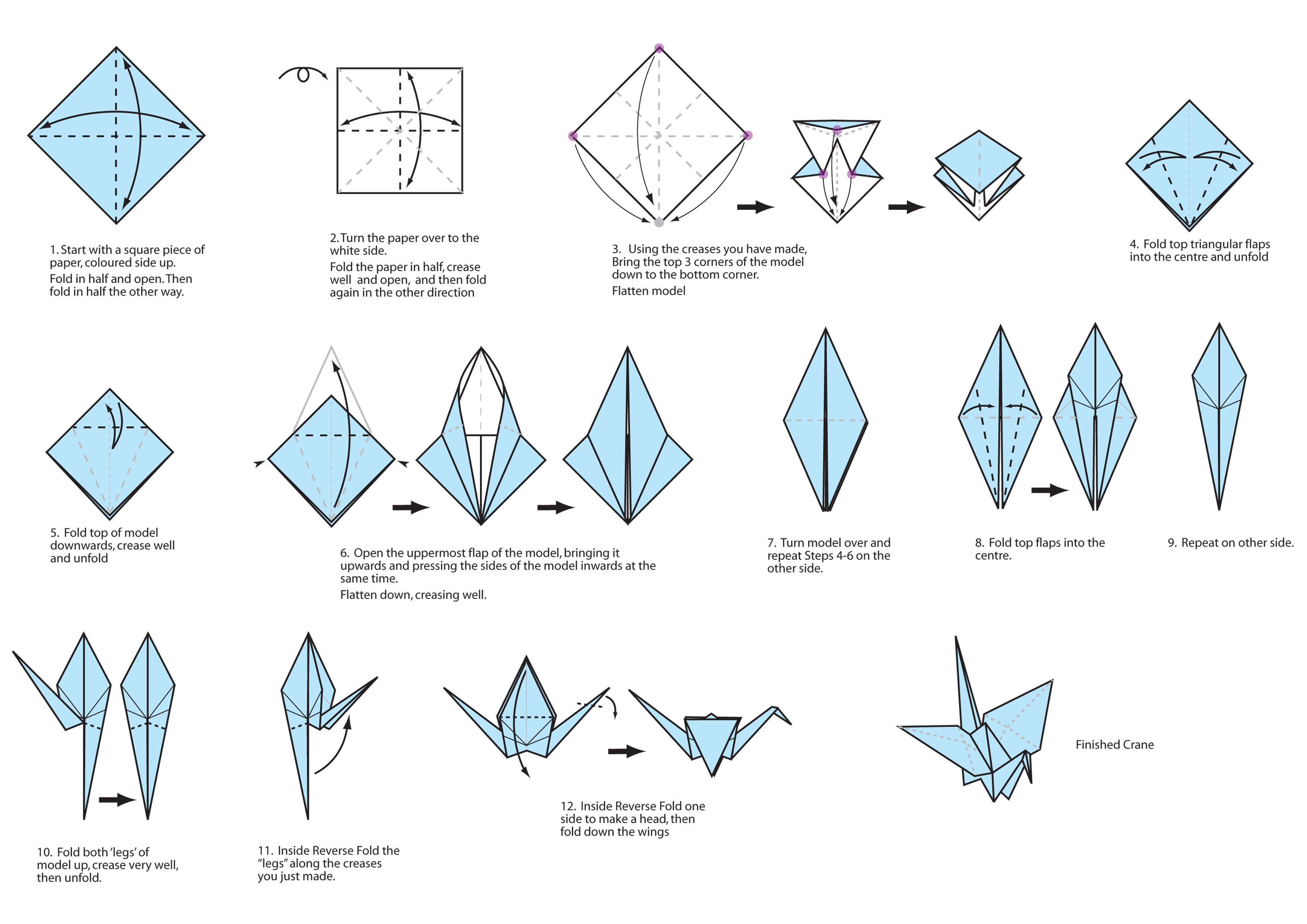 easy origami crane