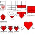 Love heart origami