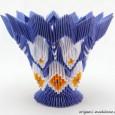 Modular origami vase