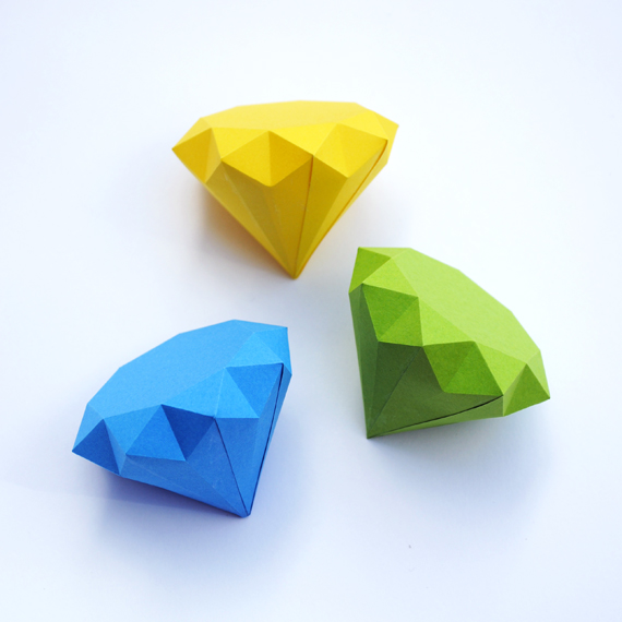 origami 3d diamond