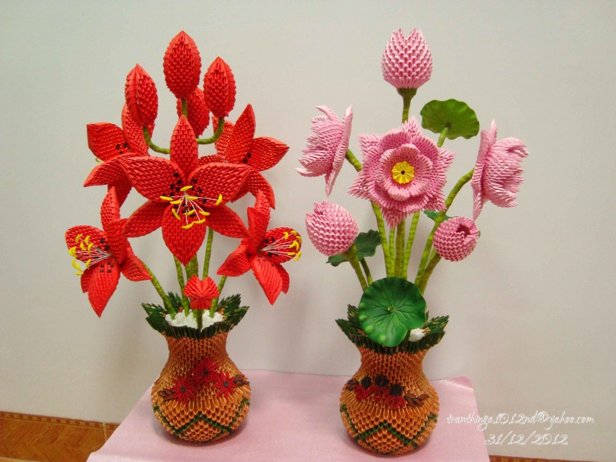 origami 3d flowers