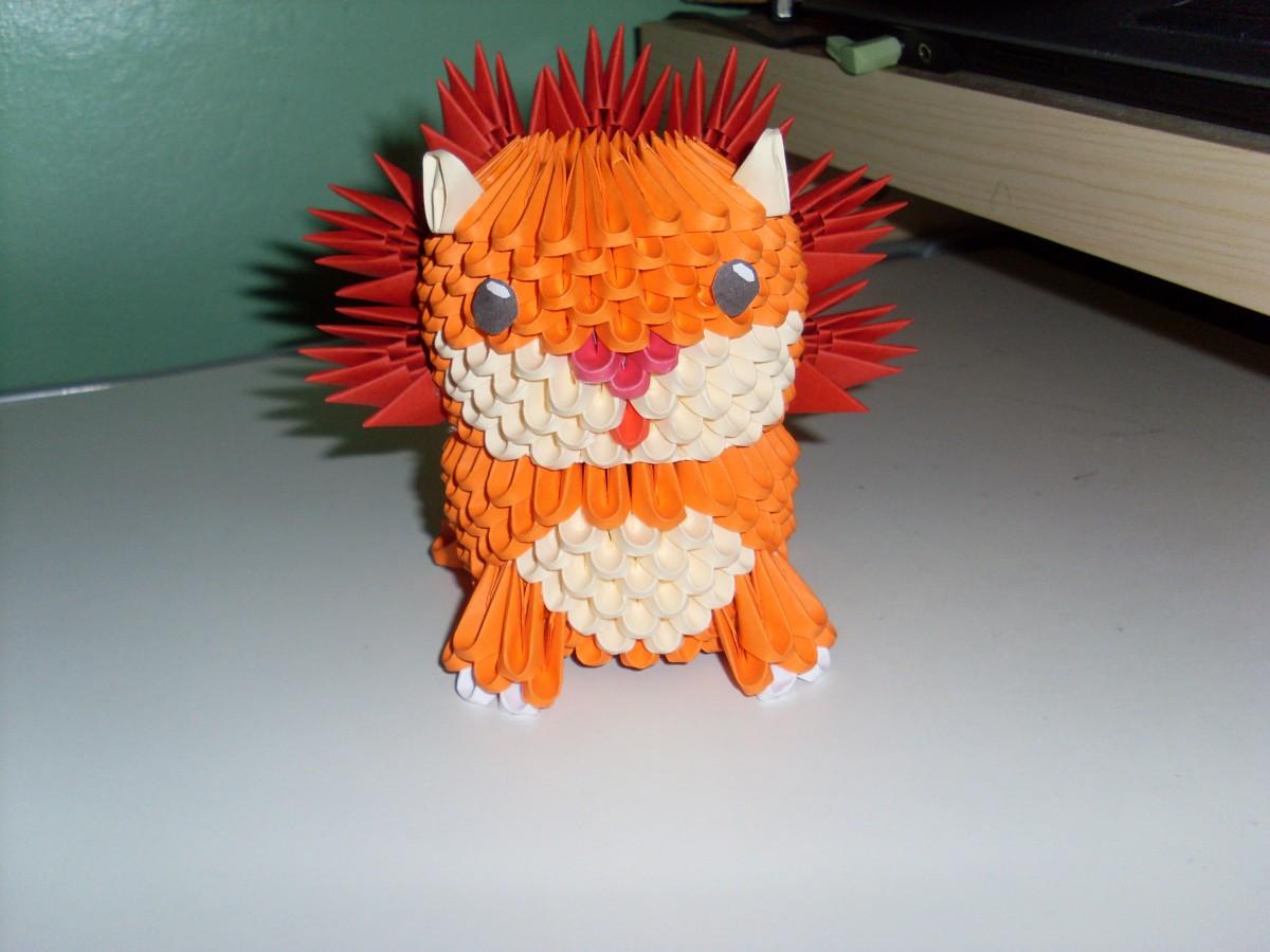 Схемы модульного оригами звери