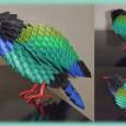 Origami 3d oiseau
