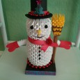 Origami 3d snowman