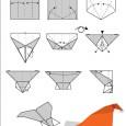 Origami avion en papier pliage