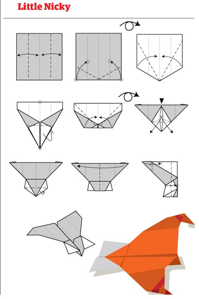 origami avion