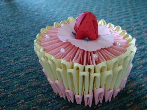 origami birthday cake