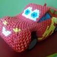 Origami car 3d