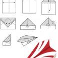 Origami d avion en papier