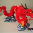 Origami dragon 3d