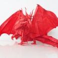 Origami dragon en papier