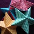 Origami etoile de noel