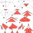 Origami facile de noel