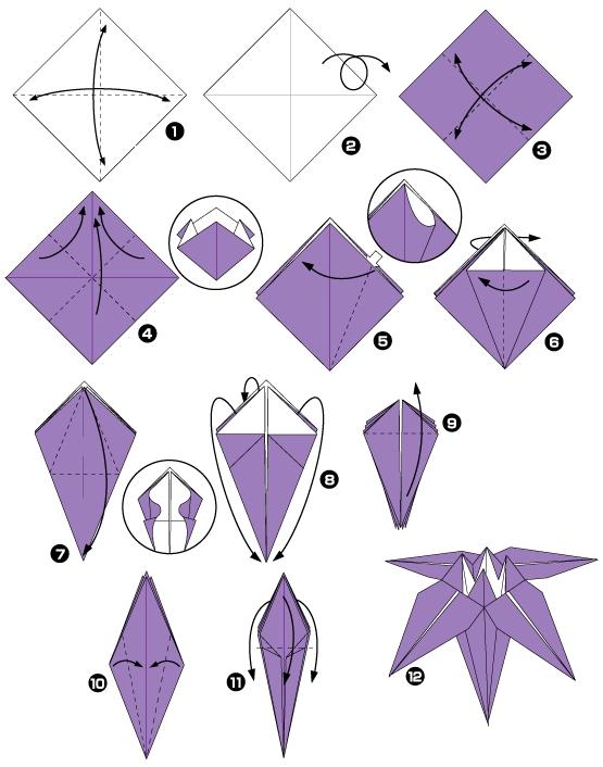 Origami Facile Fleur Papier
