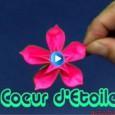 Origami fleur coeur d étoile