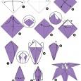 Origami fleur simple