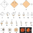 Origami flower diagrams