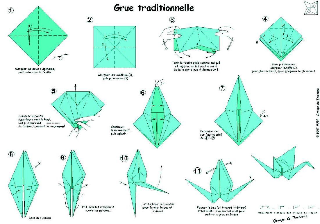 Origami Grue Japonaise