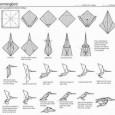 Origami hummingbird