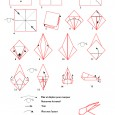 Origami lapin en papier