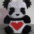 Origami panda 3d