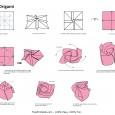 Origami paper rose
