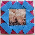 Origami picture frame
