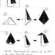 Origami pingouin facile