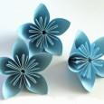 Origami pliage fleur