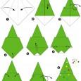 Origami sapin de noel