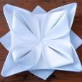 Origami serviette fleur