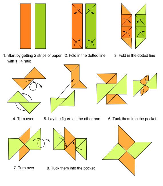 origami facile shuriken