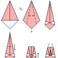 Paper origami swan
