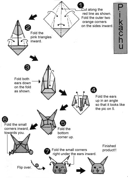 Pokemon Origami Instructions