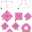 Rose origami facile
