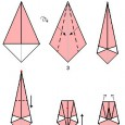 Simple origami swan