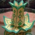 Vase origami 3d