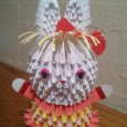 3d origami bunny