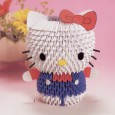 3d origami kitty