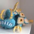 3d origami monster