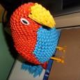 3d origami parrot diagram