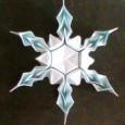 3d origami snowflake