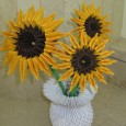 3d origami sunflower
