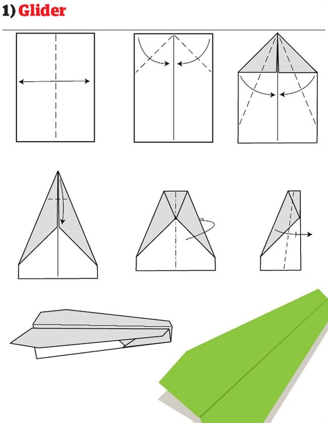 avion papier pliage