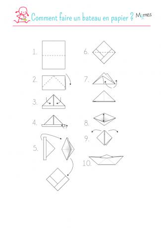 bateau origami simple