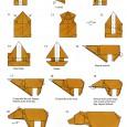 Bear origami instructions