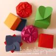 Boite fleur origami