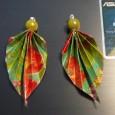 Boucle d'oreille origami tuto