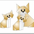 Chat origami diagramme